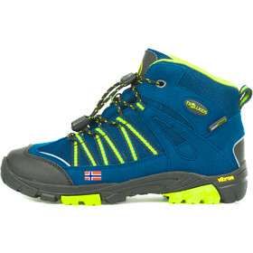 TROLLKIDS Lofoten Hiker Mid Shoes Kids blue/lime